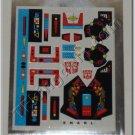 Transformers G1 Snarl Sticker Decal Sheet