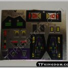 Transformers G1 Apeface Sticker Decal Sheet