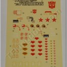 Transformers G1 Omega Supreme Sticker Decal Sheet