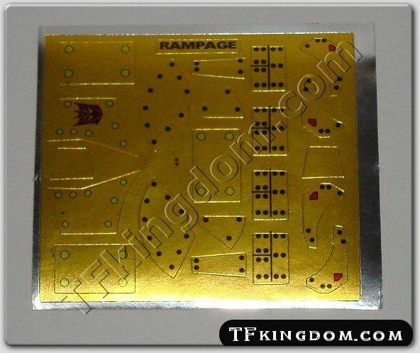 Transformers G1 Rampage Sticker Decal Sheet