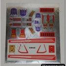 Transformers G1 Dirge Sticker Decal Sheet