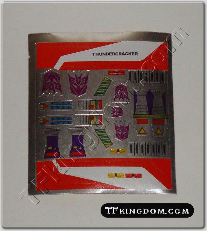 Transformers G1 Thundercracker Sticker Decal Sheet