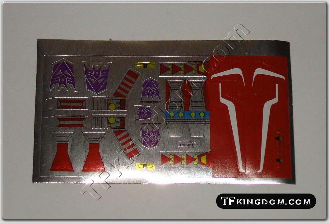 Transformers G1 Thrust Sticker Decal Sheet