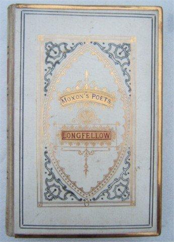 MOXONS POETS LONGFELLOW WHITE LEATHER 1870s GILT METAL