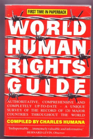 WORLD HUMAN RIGHTS GUIDE HUMANA 1987 PB BOOK 40 Q&As