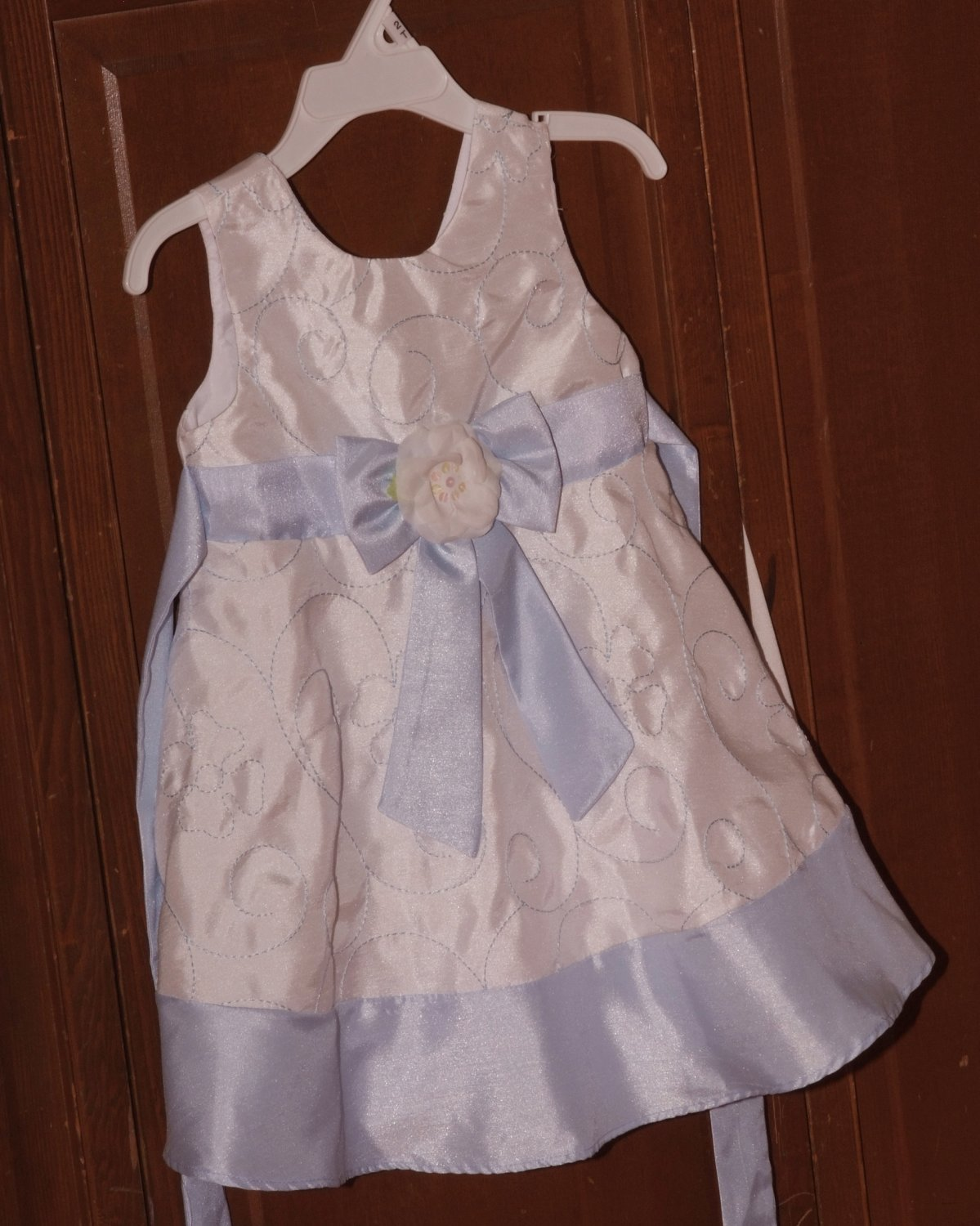 Light Blue & White Dress size 2T