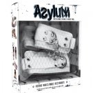 Halloween Asylum Patient White Wrist Cuffs Set w/ Chain