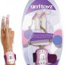 Grrl Dual Silicone Finger Sleeve Massager Bullet Vibe