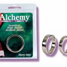 Large Size Alchemy Seamless Metal Cock Band ~ Penis Balls Ring