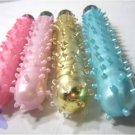 "Light Pink - 6.5"" Jelly Vibrator w/ Clitoral Bumps Clit Nubs Vibe"