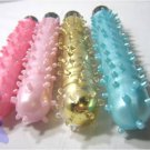 """Gold Color - 6.5"""" Jelly Vibrator w/ Clitoral Bumps Clit Nubs Vibe"""