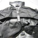 Black Leather Open-Chest / Nipple Bondage StraitJacket