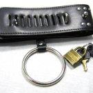 Black Color Locking Spiked Stud Goth Collar Choker Bondage Ring