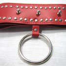Red Color Locking Spiked Stud Goth Collar Choker Bondage Ring
