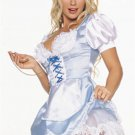 Sexy Naughty Blue Peasant Maid Dress Costume Corset NIB