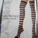 Pink Color Punk Rock Stripe Over Knee Stockings Sheer Striped Socks ~ Halloween Thigh-Highs