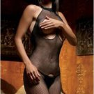 Seamless Fishnet Halter Body Stocking Open Bust Crotch
