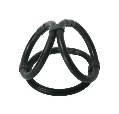Trinity Easy Release Penis Silicone Tri Cock &Ball Ring