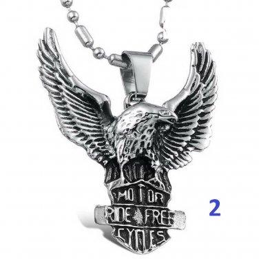 new Fashion Titanium Stainless steel hawk eagle pendant necklace