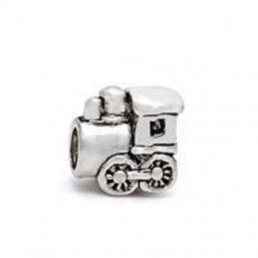 new handmade silver train locomotive charm bead european bracelet FREE shipping