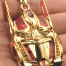 New fashion movie Transformers Robot Optimus Prime ID gold red pendant necklace