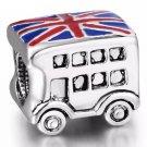 New handmade 925 sterling silver BUS Enamel charm bead European bracelet free shipping