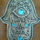 New big home wall stone hamsa hand jerusalem blue evil eye free shipping