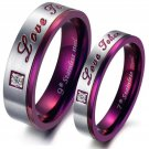 very Fashion titanium Stainless steel set couple love token RINGS FOR HIM AND HER FREE SHIPPING