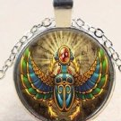 Amazing Spirit Bird Egypt Sun God charm Stereoscopic Unisex silver color Pendant Necklace