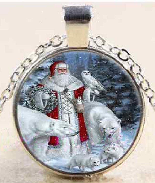 New Pretty Christmas Santa Owl Stereoscopic charm Unisex silver color  Chain Pendant Necklace