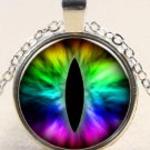 New Punk Dragon eye charm Stereoscopic Unisex silver color Pendant Necklace