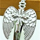 Adorable Magic Stainless steel PaganAngel Wing Crystal Cross  Pendant Necklace