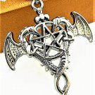Adorable Magic Stainless steel Pagan Wiccan  Dragon Pentacle Pendant Necklace