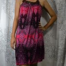 388 Pink Halter Neck Polyester Paisley Printed Tunic Dress
