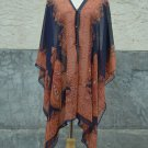 862 Scarf Kaftan Caftan Kimono Sleeves Tunic Beach Cover-ups swim suit Top