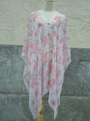 867 Scarf Kaftan Caftan Kimono Sleeves Tunic Beach Cover-ups swim suit Top