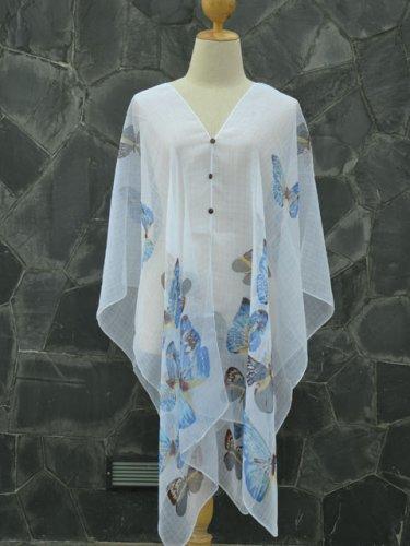 558 Scarf Kaftan Caftan Kimono Sleeves Tunic Beach Cover-ups swim suit Top