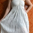 7013 Boho White Halter Summer Beach Sundress Top