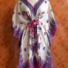 1080 Vintage Kaftan Caftan Tunic Kimono V-Neck Top Blouse Dress M L XL
