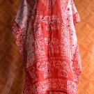 1100 Vintage Kaftan Caftan Tunic Kimono V-Neck Top Blouse Dress M L XL