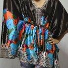 901 Satin Caftan Kaftan Kimono Tunic Cover-ups Top XL