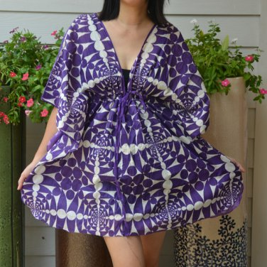 309 Boho Caftan Kaftan Kimono Tunic Cover-ups Dress Top Blouse