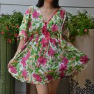 310 Boho Floral Caftan Kaftan Kimono Tunic Cover-ups Dress Top Blouse