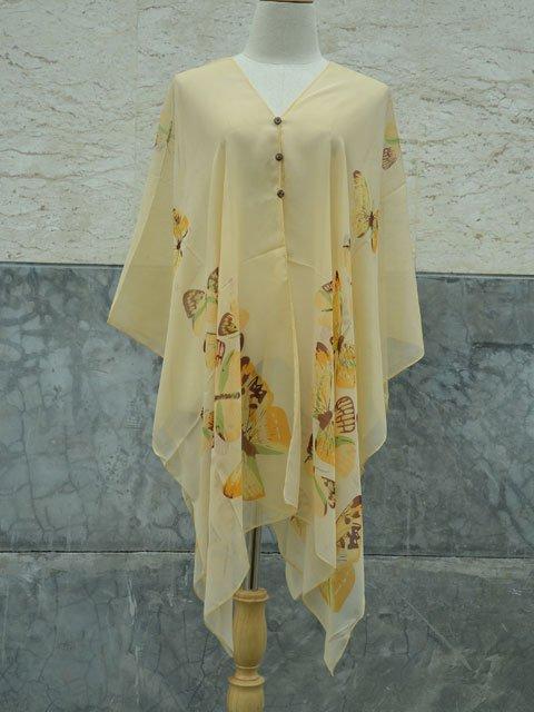 555 Scarf Kaftan Caftan Kimono Sleeves Tunic Beach Cover-ups swim suit Top