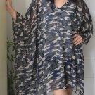 4062 Caftan Kaftan Kimono Tunic Cover-ups Blouse Top M L XL 2XL 3XL