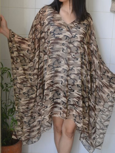 4063 Caftan Kaftan Kimono Tunic Cover-ups Blouse Top M L XL 2XL 3XL