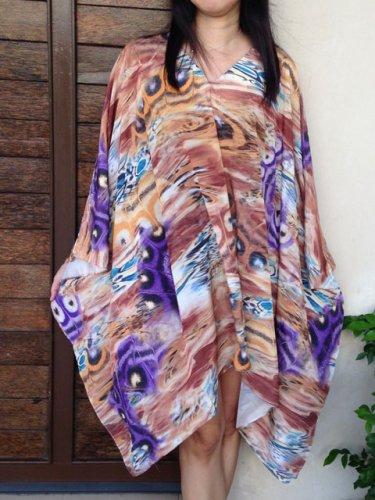 4074 Caftan Kaftan Kimono Tunic Cover-ups Blouse Top M L XL 2XL 3XL