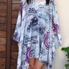 4075 Caftan Kaftan Kimono Tunic Cover-ups Blouse Top M L XL 2XL 3XL