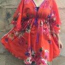 NOK03 Boho Floral Caftan Kaftan Kimono Tunic Cover-ups Dress Top Blouse