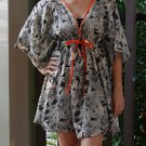 NOK05 Boho Floral Caftan Kaftan Kimono Tunic Cover-ups Dress Top Blouse